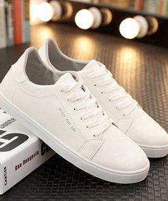 Giày Casual trGiày Casual trắng, giày dạo phố, giày trắng, hội giày trắng, white shoes, men shoes whiteắng
