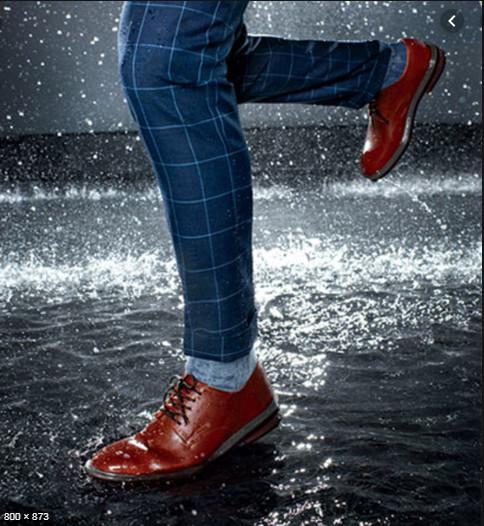 Giày tây đi mưa, bảo vệ giày khi bị vô nước, cách bảo vệ giày sau khi đi mưa.