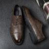 Giày tây nam thắt dây Derby Brother 2083 nâu