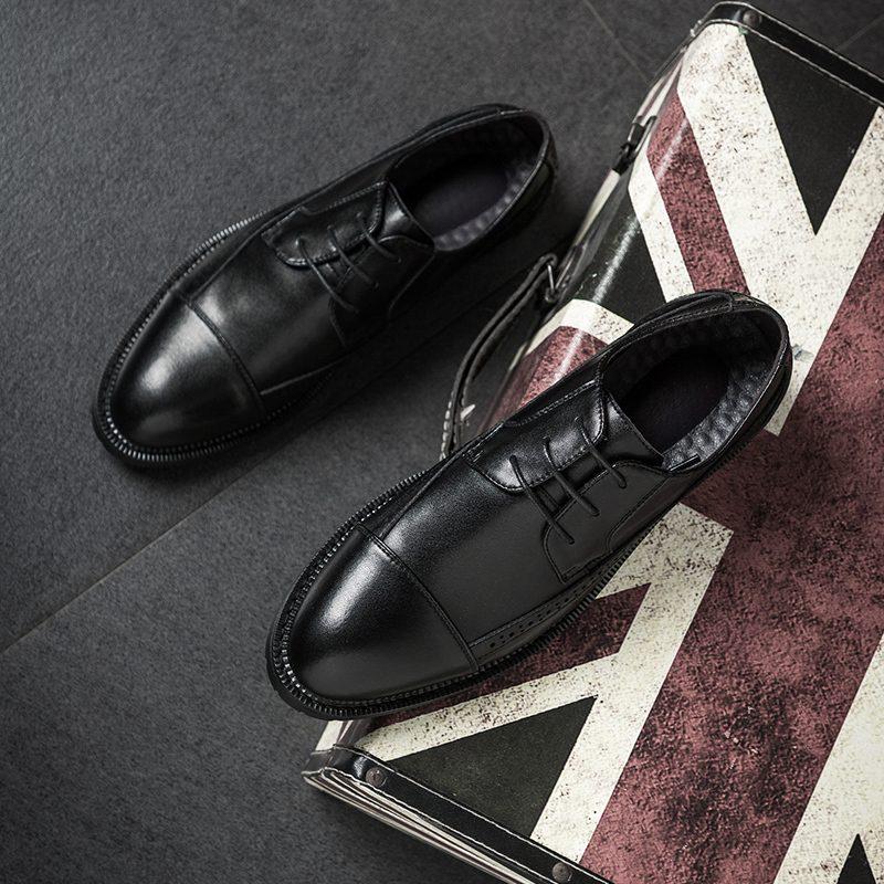 Giày tây nam thắt dây Derby Brother 2083 đen